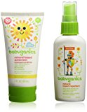 Babyganics Mineral-Based SPF 50+ Sunscreen, 2 Ounce + Natural Insect Repellent, 2 Ounce Outdoor Essentials Duo
