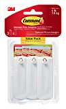Command Sawtooth Picture Hangers Value Pack, White, 3-Hangers (17042-ES)