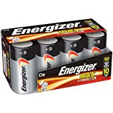 Energizer D Cell Batteries, Max Alkaline (8 Count)