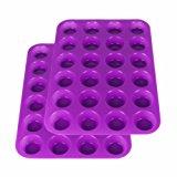 2Packs Suntake Silicone Mini Muffin & Cupcake Baking Pan, 24 Cups Silicone Molds (Purple)
