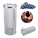 400 Micron Stainless Steel Home Brewing Beer Brewing Hop Filter Hop Spider (3.94 x 10 in)
