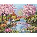 "Dimensions Paint By Number Craft Kit Painting, 20"" x 16"", Japanese ..."