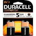 Duracell Battery - 9V - Alkaline 580 mAh
