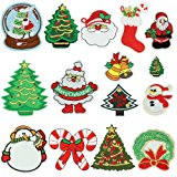 Christmas Patches, Satkago 15 Pcs Merry Christmas Iron On Appliques Snowman Embroidery Sequin Sew On Patches or Iron On Patches for Clothes Jackets Backpacks T-shirt Jeans Skirt Vests Scar