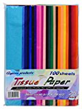 """Tissue Paper-Craft Paper-Colored Paper Larger-19 2/3"""" X 29 1/2""""-Heavier Thicker (21GSM)-More colors 25 vibrant colors-100 Sheets Paper Crafts Pack in Bulk-Gift Wrap -The best Paper Tissue Value Pack-Satisfaction guaranteed or your money back."""