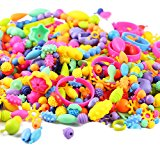 Looching 165pcs Kids Pop Beads Set Creative Jewelry Snap Kit DIY Necklace Bracelet Art Crafts Gift Toys