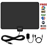 HDTV Antenna,Sobetter 50 Mile Range Digital TV Antenna with Detachable Amplifier, USB power supply and 13.2ft Coax Cable,12 months warranty(New version,supports formart 1080p,4K)
