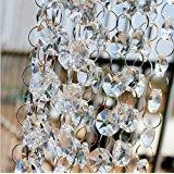 12 Feet Crystal Beads Clear Chandelier Bead Lamp Chain