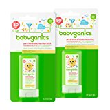 Babyganics Pure Mineral Sunscreen Stick SPF 50, .47oz Stick (Pack of 2)