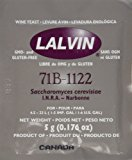 Lalvin Wine Yeast 71B 1122 Yeast, 10 Packs