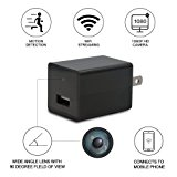 USB Wall Charger Camera - 1080P HD Mini Nanny Camera with Motion Detection -WiFi Security Remote View - iPhone / Android App
