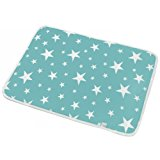 Changing Pad Large size Waterproof Cotton Changing Mat with Wet Bag for Kids by LISICK (75×60CM)