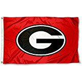 NCAA Georgia Bulldogs Flag with Grommets 60 x 36in