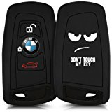 kwmobile Silicone case for 3-Button Remote Car Key (only Keyless Go) - cover protection case in Design Don't touch my Key TPU key cover