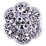 eBoot 700 Pieces Round Wiggle Googly Eyes with Self-adhesive DIY Scrapbooking Crafts Toy Accessories, Assorted Sizes