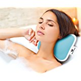 Luxury Non-Slip Spa BATH PILLOW by Home Prime Fits Any Bathtub / Hot Tub / Jacuzzi with 2 Strong Suction Cups - Large & Soft, Shoulder & Neck Support. With a LOOFAH SPONGE.