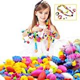 Looching 290pcs DIY Necklace Bracelet Art Crafts Pop Snap Beads Set Creative Jewelry Kit Gift Toys For Kids