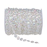 GoFriend 99 ft Crystal Like Beads by the Roll Wedding Christmas Gift Home Decorations Light Chandeliers Accessories