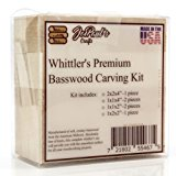 Whittler's Premium Basswood Carving Block Kit - Best Gift Set for DIY Craft Hobbyists