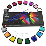 Face & Body Paint Kit Professional Palette by Artiparty - Non-Toxic & Hypoallergenic - Easy to Apply & Remove - Plastic Box for Ease of Storage&Carrying - Ideal as Adults & Kids Face Painting Set