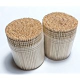 Makerstep Ornate Wooden Toothpicks with Holder, 1000 pcs (2 Packs of 500 pcs)