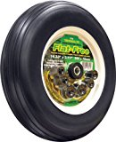 Shepherd Hardware 9709 14-Inch Flat Free Tire, 3-Inch Ribbed Tread, Universal Fit with Spacers and Bushings