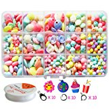Pnbb Colorful Acrylic Beads Toy DIY Jewelry for Children Necklace and Bracelet Crafts