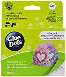 Glue Dots Removable Dot Sheets Value Pack, Contains 600 (.5 Inch) Temporary Adhesive Dots (08388)