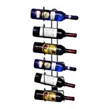 Sorbus Wall Mount Wine Rack – Holds 6 Bottles of Wine or Champagne