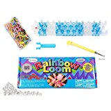 Rainbow Loom Crafting Kit includes Loom, Metal Hook, Mini Rainbow Loom, 600 Rubber Bands + 24 Clips