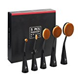 Oval Makeup Brush Set, USpicy Standable Professional Makeup Brushes 5pcs (Refined Gift Box, Cruelty Free, Soft Synthetic Fiber)