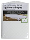 "Eco-friendly Peva Quilted Table Pad with Flannel Backing Size 52"" By 104"" By Sultan's Linens,"