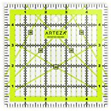 Arteza Acrylic Quilters Ruler - 5 x 5 inch - Double-Colored Grid Lines