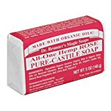 Dr. Bronner's Magic Soaps Pure-Castile Soap, All-One Hemp Rose, 5-Ounce Bars (Pack of 6)