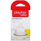 Playtex NaturaLatchNipple, Slow Flow, 2-Count