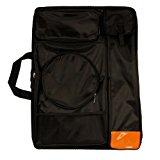 "US Art Supply Black Nylon Art Portfolio Carry Backpack Bag, (Size: 25-1/2"" x 19"" x 4-3/8"")"