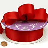 "Red Double Face Satin Ribbon, 1-1/2"" X 50Yd"