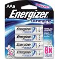 Energizer Ultimate Lithium Battery - AA - Li 2900 mAh