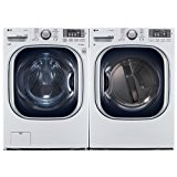 Power Pair Special-LG Turbo Series Ultra-Capacity Laundry System with Steam*PURE WHITE COLOR*(WM4270HWA_DLEX4270W)