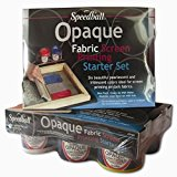 Speedball Opaque Fabric Screen Printing Ink Starter Set