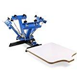 Superland Screen Printing Machine 4 Color Silk Screen Printing Machine 1 Station Adjustable Devices Press Printer DIY Shirt Equipment (4 color 1 station)