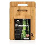 Home Organics 3-Piece, Non-Slip Premium Moso Bamboo Cutting Board Set, For Food Prep, Meat, Vegetables, Bread, Crackers & Cheese