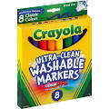 Crayola Washable Markers, Conical Tip, Assorted Classic Colors - 8 ...