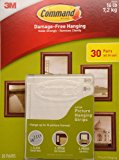 Command Damage Free Picture and Frame Hanging, Large Strips (30 Pairs)