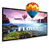 120 Inch Portable Projector Screen, FLOVEA 16:9 Foldable Outdoor Front Movie Screen, Lightweight, Folding Movie Screen for Camping/Home Theater/Education/Office Presentation