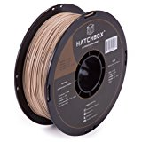 HATCHBOX 3D WOOD-1KG1.75 3D Printer Filament, Dimensional Accuracy +/- 0.05mm, 1.75 mm, 1 kg Spool, Wood