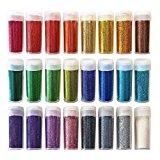 Original Stationery Arts and Crafts Glitter Shake Jars, Extra Fine, 24 Multi color Set