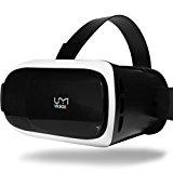 UMIDIGI VR Headset, Virtual Reality Box, 3D Virtual Video Glasses (Google Cardboard, Focal and Pupil Distance Adjustment for iPhone Samsung Moto LG Nexus HTC, Black/White)
