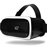 UMIDIGI VR Headset, Virtual Reality Box, 3D Virtual Video Glasses (Google Cardboard, Focal and Pupil Distance Adjustment for iPhone Samsung Moto LG Nexus HTC, Black/White)