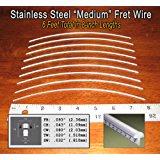 Guitar Fret Wire - Jescar Stainless Steel Medium Gauge - Six Feet